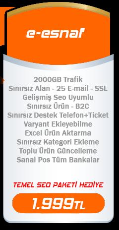 e-esnaf e-ticaret paketi