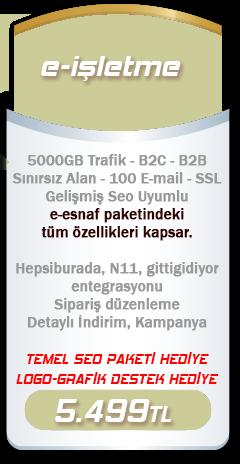 e-işletme e-ticaret paketi