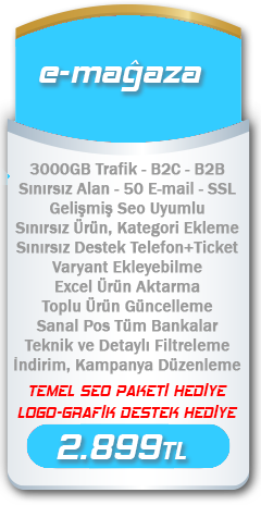 e-mağaza e-ticaret paketi