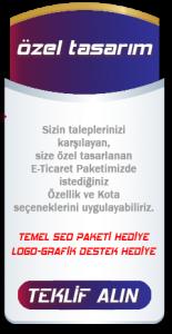 E-Ticaret Paketi Özel Tasarım